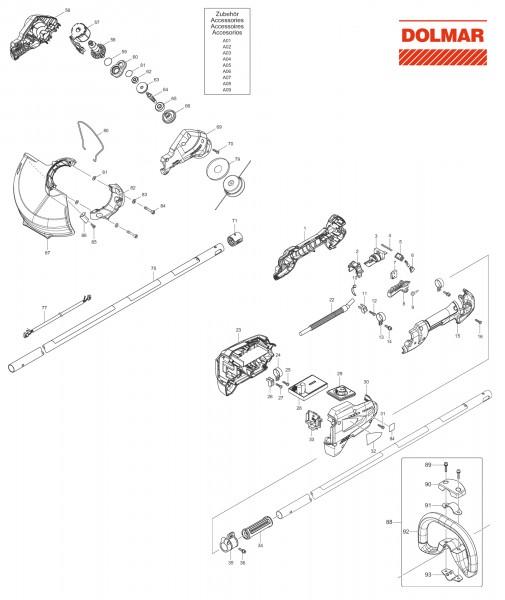 Ersatzteile für DOLMAR AT-1831 C Akku-Trimmer