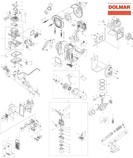 Ersatzteile für DOLMAR PB-7650.4 Blasgerät