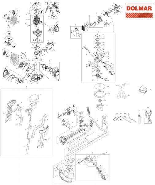 Ersatzteile für DOLMAR MS-4300.4 Motorsense