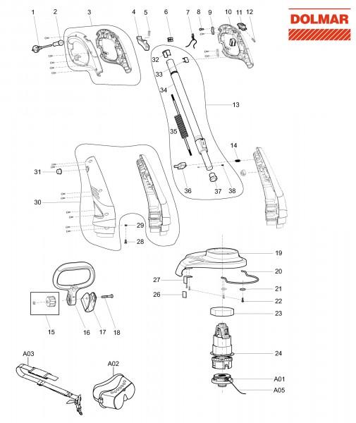 Ersatzteile für DOLMAR ET-40 Elektro-Trimmer