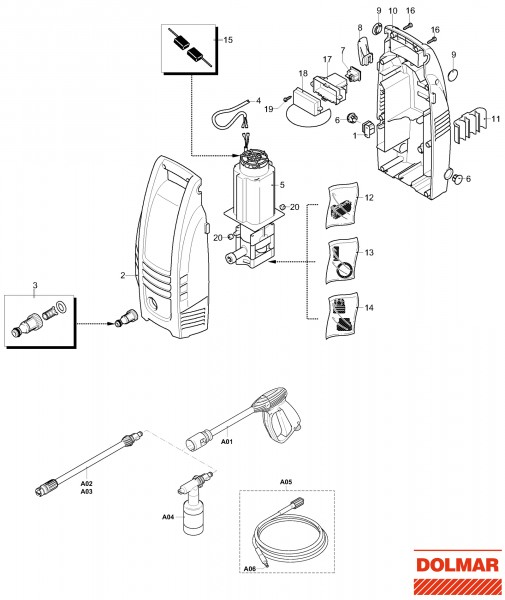 Ersatzteile für DOLMAR HP-10 Hochdruckreiniger