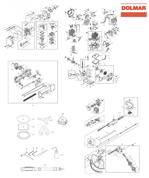 Ersatzteile für DOLMAR MS-335.4 C Motorsense