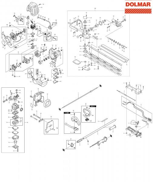 Ersatzteile für DOLMAR MH-2556 Benzin-Heckenschere