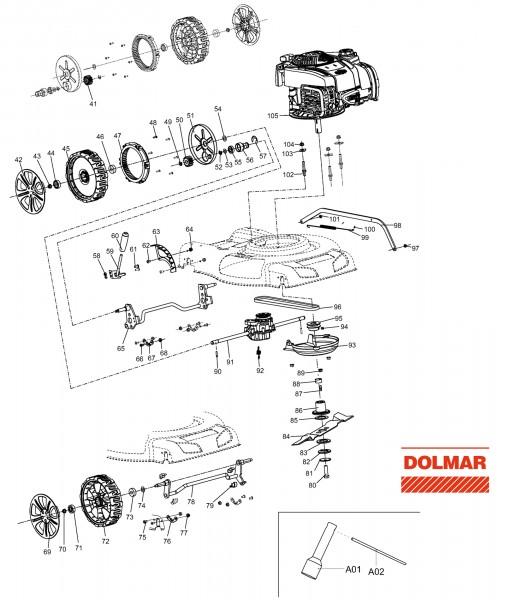 Ersatzteile für DOLMAR PM-5101 S3 Benzin-Rasenmäher