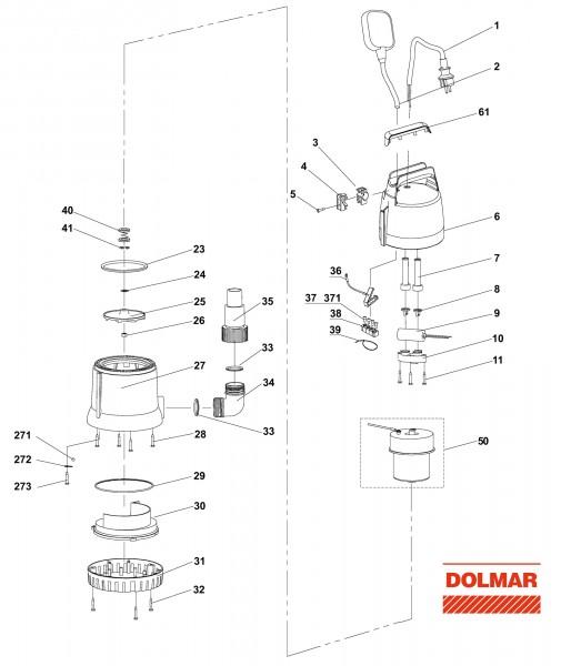 Ersatzteile für DOLMAR EP-132 Elektro-Wasserpumpe