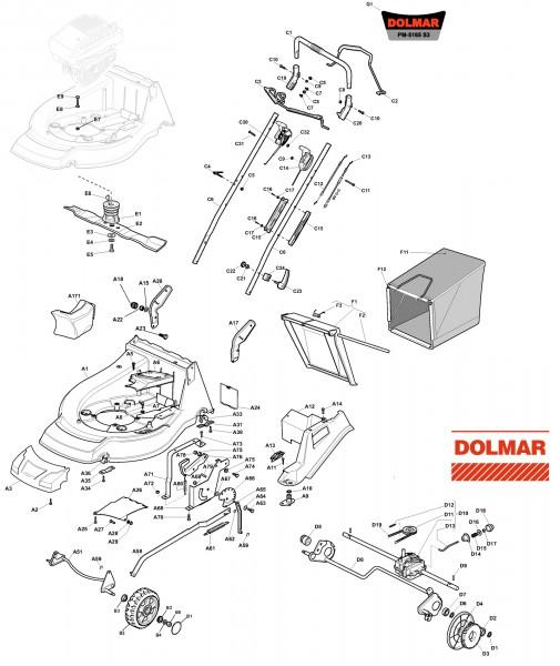 Ersatzteile für DOLMAR PM-5165 S3 (2011) Benzin-Rasenmäher