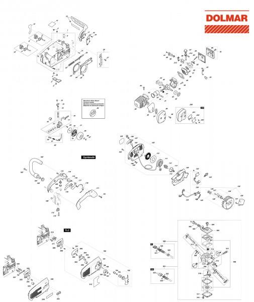 Ersatzteile für DOLMAR PS-3410 TLC Benzin-Motorsäge