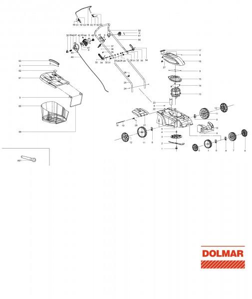 Ersatzteile für DOLMAR EM-330 Elektro-Rasenmäher