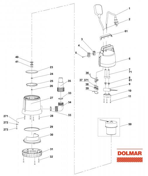 Ersatzteile für DOLMAR EP-84 Elektro-Wasserpumpe