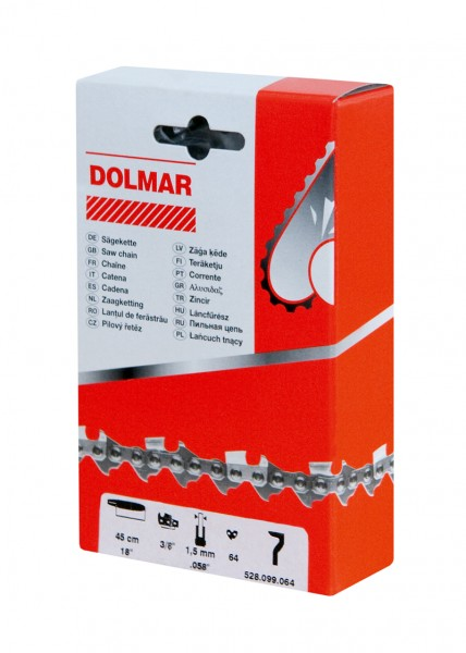 Dolmar Sägekette 3/8 1,1 55 Glieder Hobby LP Low Profile