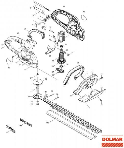 Ersatzteile für DOLMAR HT-49 Heckenschere