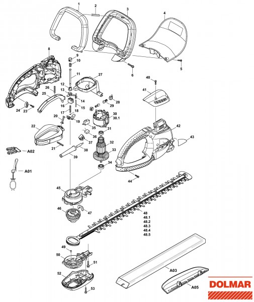 Ersatzteile für DOLMAR HT-7510 Heckenschere