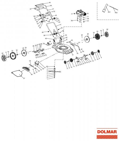 Ersatzteile für DOLMAR PM-5120 Benzin-Rasenmäher