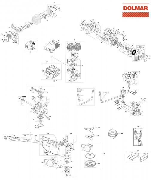 Ersatzteile für DOLMAR MS-4511 U Motorsense