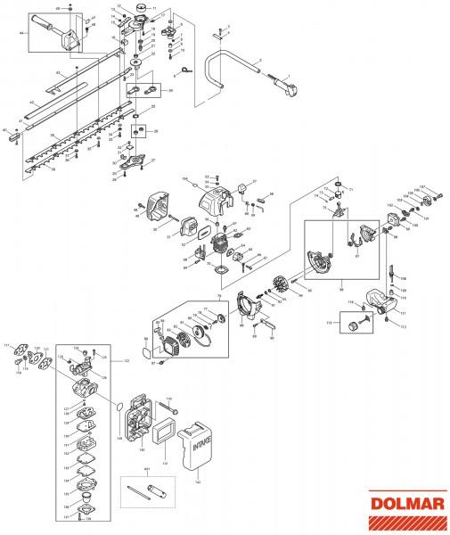 Ersatzteile für DOLMAR HT-2576 E Heckenschere