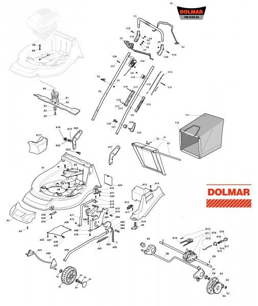 Ersatzteile für DOLMAR PM-5165 S3 (2014) Benzin-Rasenmäher