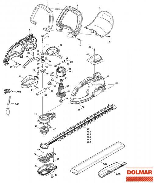 Ersatzteile für DOLMAR HT-5510 Heckenschere