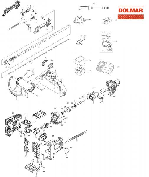 Ersatzteile für DOLMAR AT-3731 C Akku-Trimmer