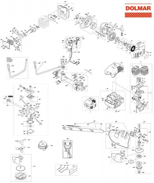 Ersatzteile für DOLMAR MS-4011 U Motorsense