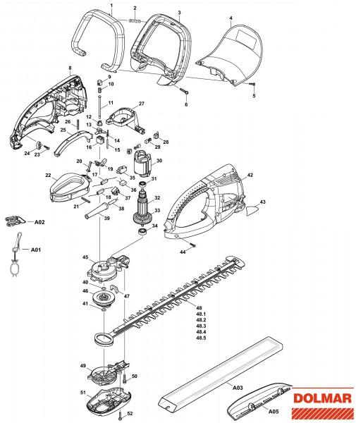 Ersatzteile für DOLMAR HT-345 Heckenschere