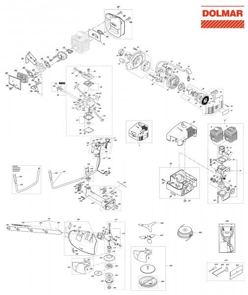 Ersatzteile für DOLMAR MS-3311 U Motorsense