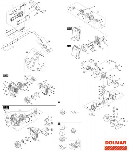 Ersatzteile für DOLMAR LT-250 Benzin-Trimmer