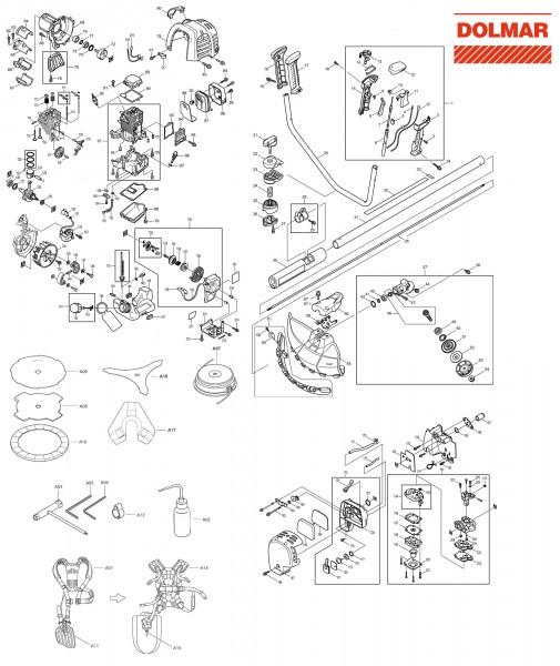 Ersatzteile für DOLMAR MS-245.4 UE Motorsense