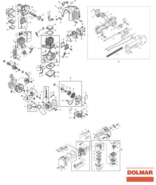 Ersatzteile für DOLMAR LT-245.4 Benzin-Trimmer
