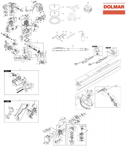 Ersatzteile für DOLMAR MS-245.4 CE Motorsense