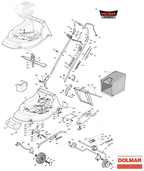 Ersatzteile für DOLMAR PM-4660 S1 (2011) Benzin-Rasenmäher