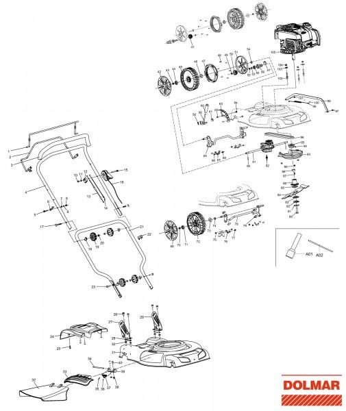 Ersatzteile für DOLMAR PM-4820 S Benzin-Rasenmäher