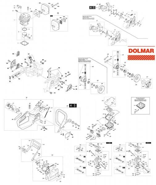 Ersatzteile für DOLMAR 110i H Benzin-Motorsäge
