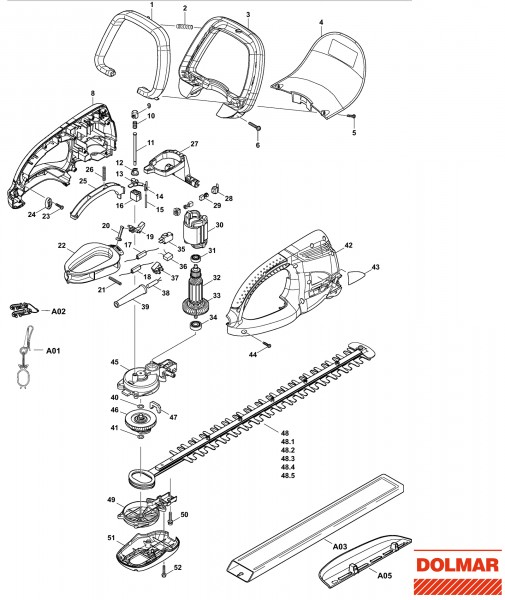Ersatzteile für DOLMAR HT-355 Heckenschere