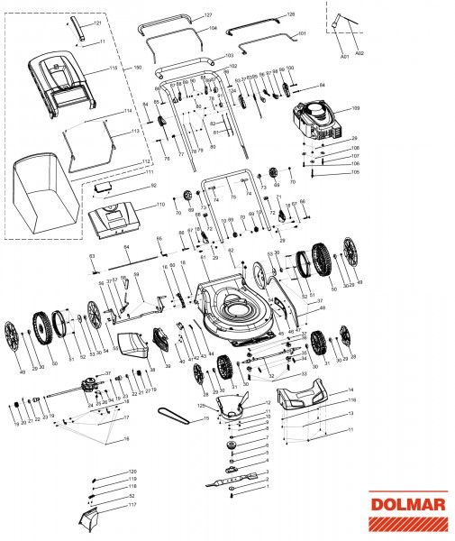Ersatzteile für DOLMAR PM-5600 S3 Benzin-Rasenmäher