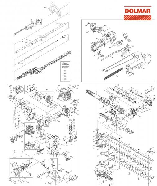 Ersatzteile für DOLMAR MH-246.4 D Benzin-Heckenschere