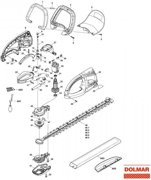 Ersatzteile für DOLMAR HT-365 Heckenschere