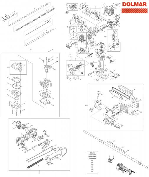 Ersatzteile für DOLMAR ME-246.4 Hochentaster
