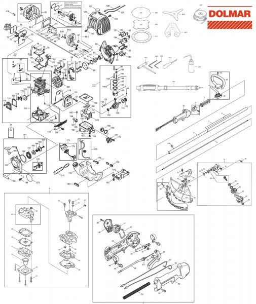 Ersatzteile für DOLMAR MS-246.4 CE Motorsense