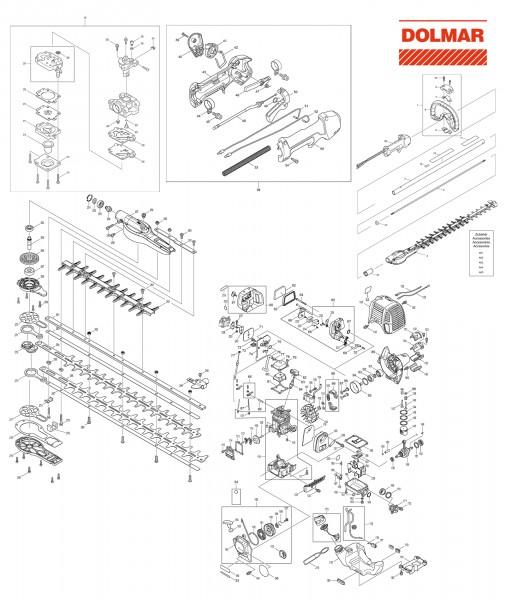 Ersatzteile für DOLMAR MH-246.4 DS Benzin-Heckenschere