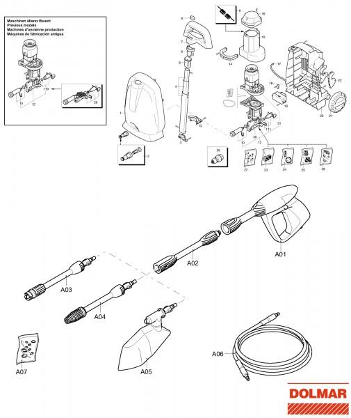 Ersatzteile für DOLMAR HP-20 Hochdruckreiniger