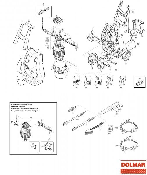Ersatzteile für DOLMAR HP-450 (2011) Hochdruckreiniger