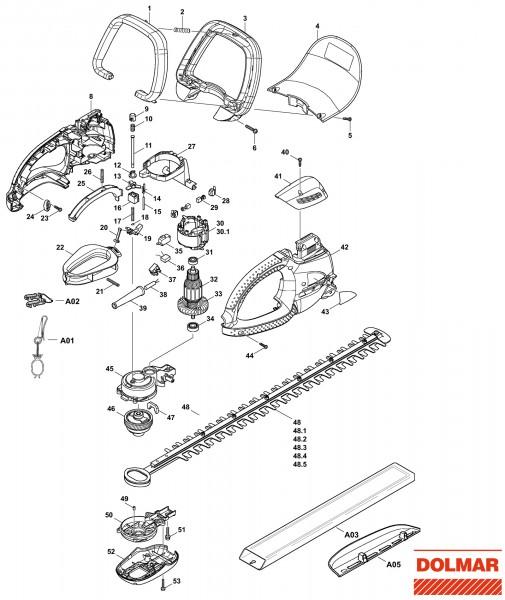 Ersatzteile für DOLMAR HT-6510 Heckenschere