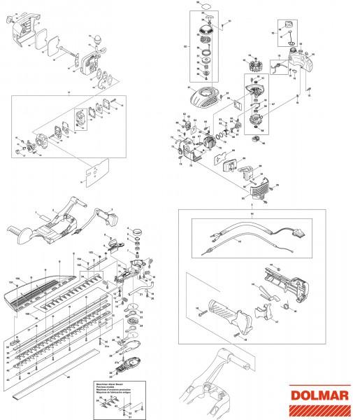 Ersatzteile für DOLMAR HT-2475 Heckenschere