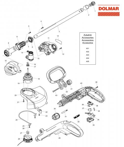 Ersatzteile für DOLMAR AT-1827 H Akku-Trimmer