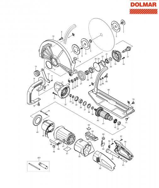 Ersatzteile für DOLMAR EC-2414 Trennschleifer