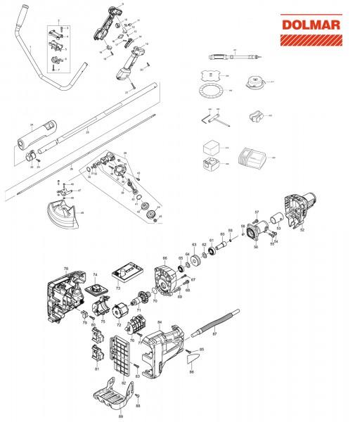 Ersatzteile für DOLMAR AT-3724 U Akku-Trimmer