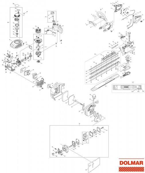 Ersatzteile für DOLMAR HT-2375 D Heckenschere