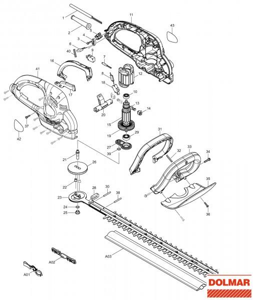 Ersatzteile für DOLMAR HT-53 Heckenschere