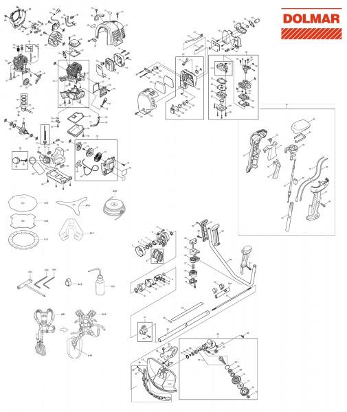 Ersatzteile für DOLMAR MS-335.4 U Motorsense